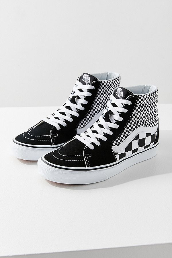f19a8464d0 Slide View  1  Vans Mix Checkerboard Sk8-Hi Sneaker