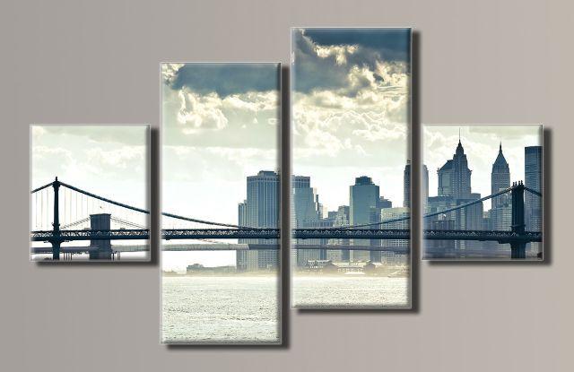 Картина модульная (63х102 см.) - New York City 5, Арт. HAF-046