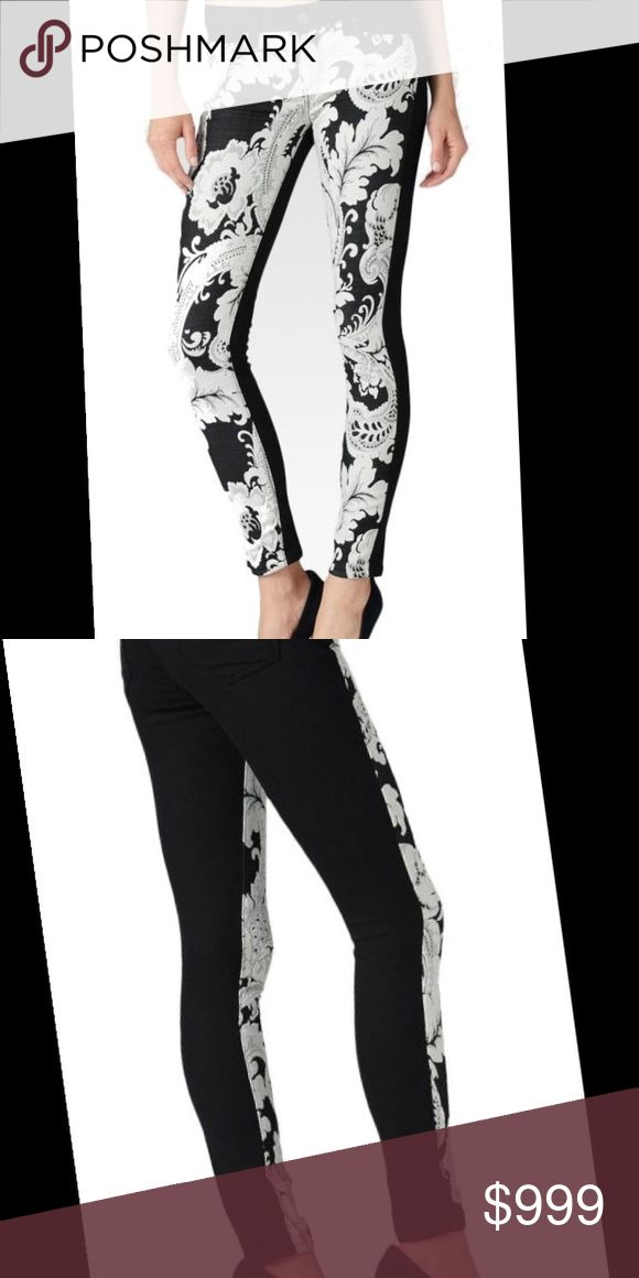 Coming Soon! NWT Paige Embroidered Jeans Paige Premium Denim - Black and White Floral Embroidered Slim Skinny Jeans Paige Jeans Jeans Skinny