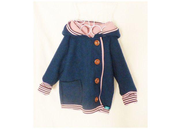 Kinderjacke für kalte Tage / children's coat by Garn-nele via DaWanda.com