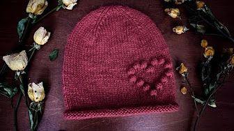 Вяжем шапку с ушками ♥ Котошапка ♥ Идеальные ушки ♥ Вяжем спицами ♥ Wild Rose ♥ - YouTube