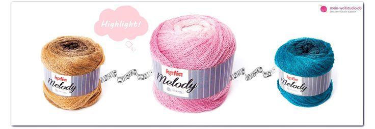 ++Katia Melody bei mein-wollstudio.de ++ Melody ist zur Zeit ein echter Renner bei uns im Shop. Kein Wunder, es ist perfekt geeignet für die gerade in Deutschland einbrechende Kälte. Und diese Farben erst... Passt einfach zu allem!