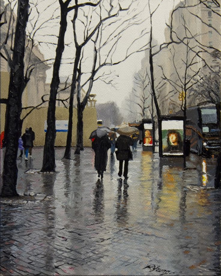 Fifth Avenue Urban landscape painting by Kenneth Young