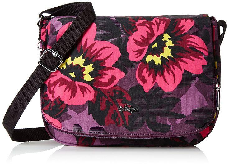 Kipling Earthbeat M, Borsa a Tracolla Donna, Multicolore (REF353 Rose Bloom), 30x22.5x10.5 cm (B x H x T): Amazon.it: Scarpe e borse
