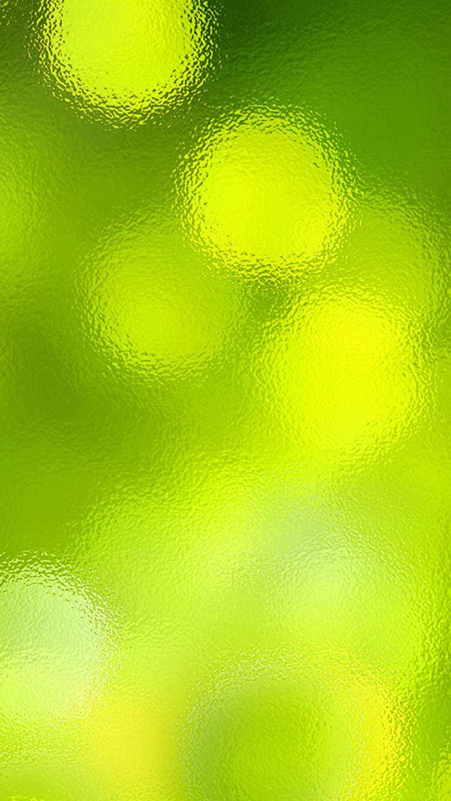 Yellow Lime Green Glass Glow iPhone Wallpaper