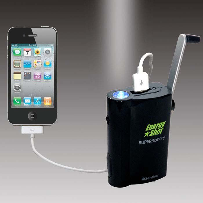 Hand powered energy with Crank Generator - need this for the emergency supplies, too!