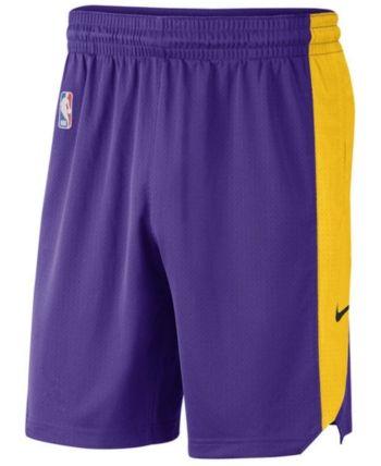 Nike Men's Los Angeles Lakers Practice Shorts Purple XXL