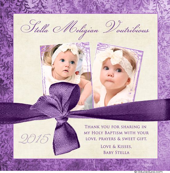 17 Best images about Photo Christening Baptism Thank You Cards – Invitation Card Baptism Design