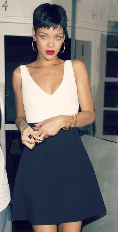 From fierce to feminine: Rihanna swaps up her look AGAIN as she heads for dinner…
