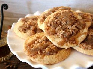 Coffee Cake Cookies Recipe ~ uses Pillsbury Sugar Cookie Dough