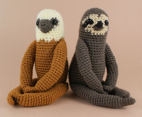 Two-Toed Sloth #crochet pattern for sale from @planetjune