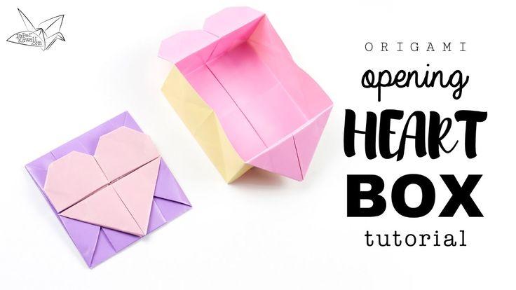 Origami Opening Heart Box / Envelope Tutorial ♥︎ DIY ♥︎ Paper Kawaii