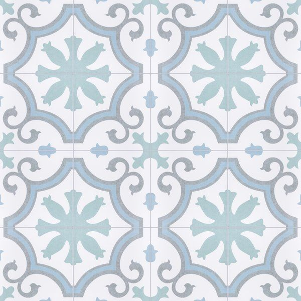 porcelain field tile in aqua