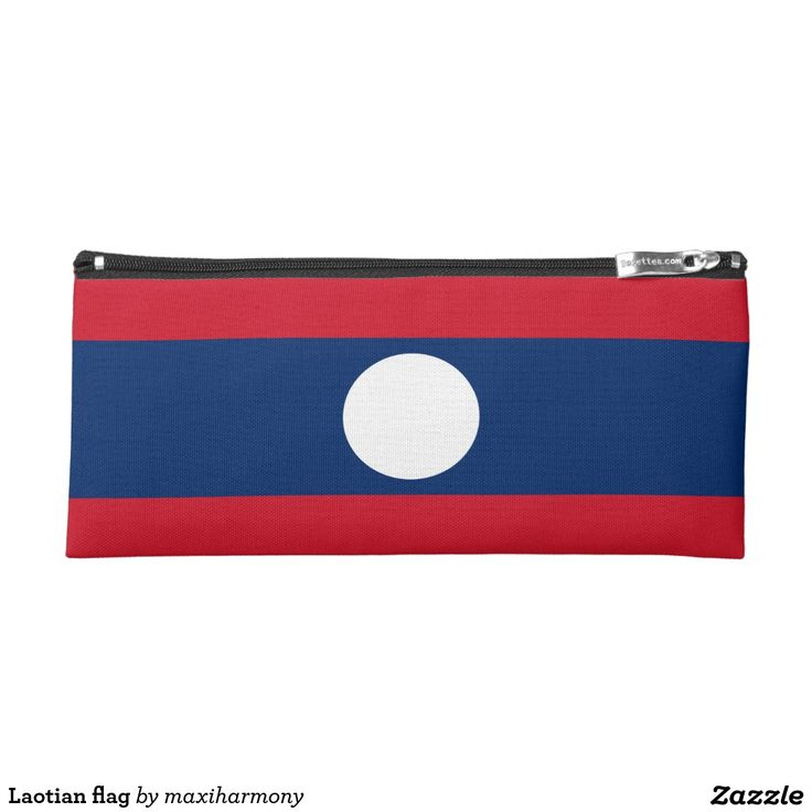 Laotian flag pencil case