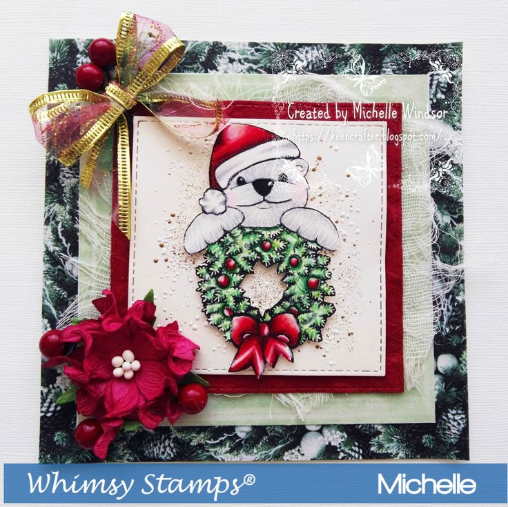 Whimsy Stamps Beary Cute Bear Digital sentiments