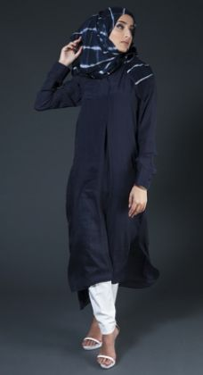 Navy Blue Kurti #DelicatleyModest #AabCollection