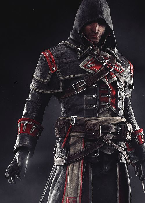 Assassin's Creed Rogue: Shay Cormac <-Cool costume! ...how the heck did he get that on all by himself?