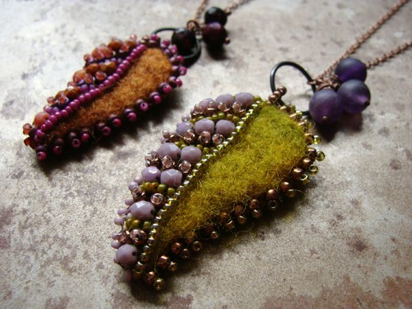 Felted and beaded
