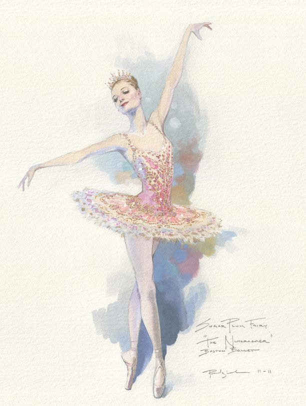 Sugar Plum Fairy. Boston Ballet's completely reimagined costume and set designs by award-winning designer, Robert Perdziola.