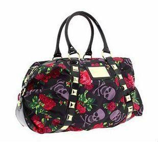 Скелет сад хобо женщины сумки дизайнерские сумки высокое качество заклепки красные розы большой женская сумка женская сумка bolsas femininas