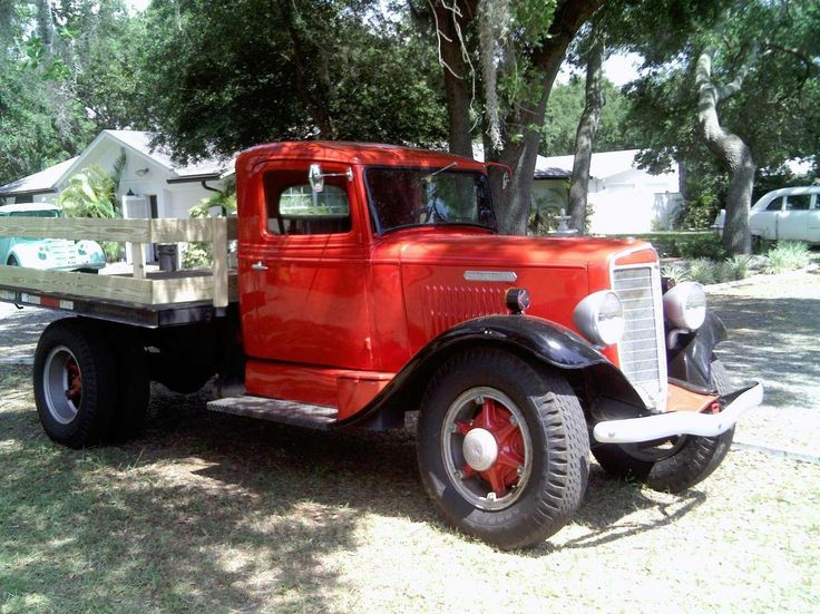 1936 International Harvester 2 Ton Dully W/ 8 Ft Flat Bed