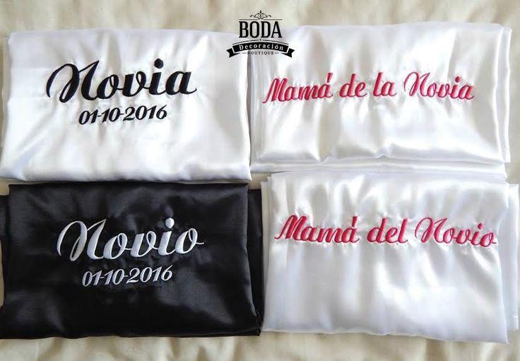 Increíbles batas personalizadas. | #TodaTuBodaEnUnSoloLugar #Novia #BrideToBe #Weddings #Bride #Bride #rope #bata #personalizado #Groom