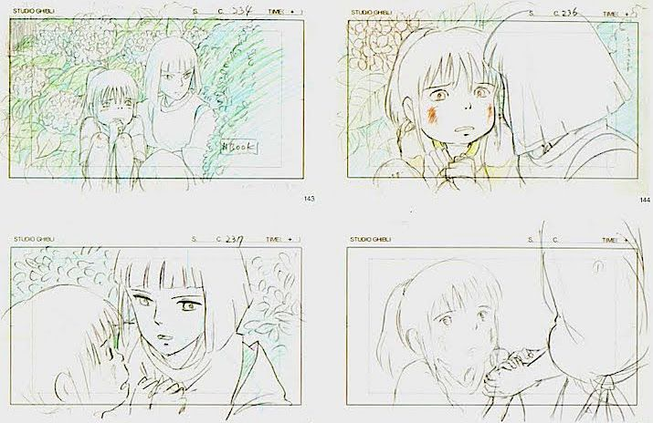 Film: Spirited Away (千と千尋の神隠し) ===== Layout Design - Scene: Don't Leave Me…
