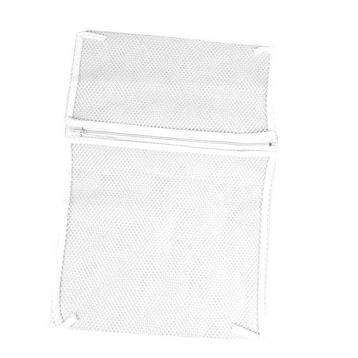 Unique Bargains Zipper Lingerie Delicate Clothes Mesh Wash Bag Home Household Net Washing Laundry Bag White