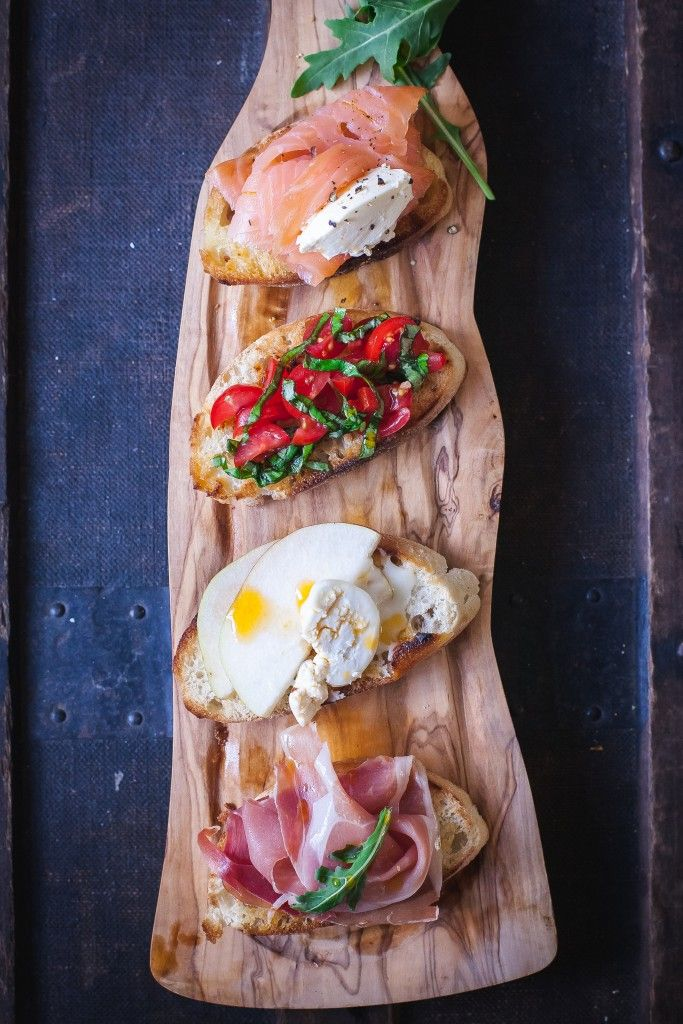 Favourite Party Crostini When you make crostini once you won't stop as the toppings are endless!