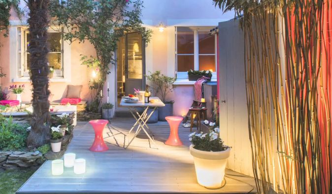 une terrasse chic et boh me dccv jardin exterieur outdoor terrasse. Black Bedroom Furniture Sets. Home Design Ideas