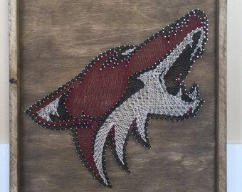 Kojoten String Kunst Arizona Coyotes String von MyHammerNailedIt