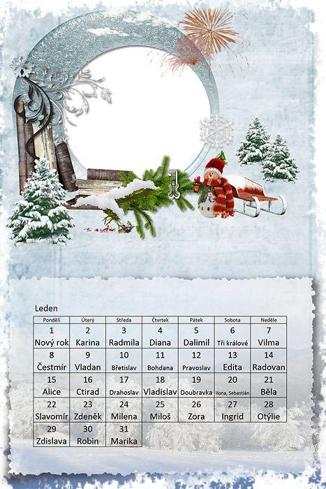 Kalendář 2018 s okénkem pro foto | Grafika-obrázky-přání