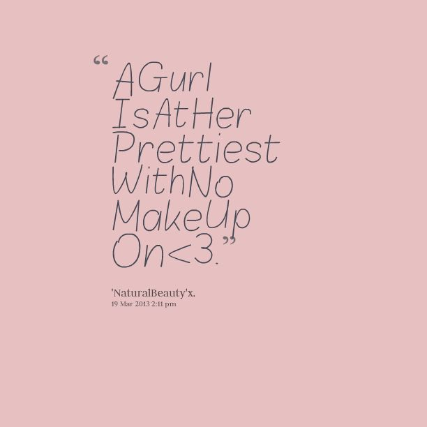 quotes about no makeup