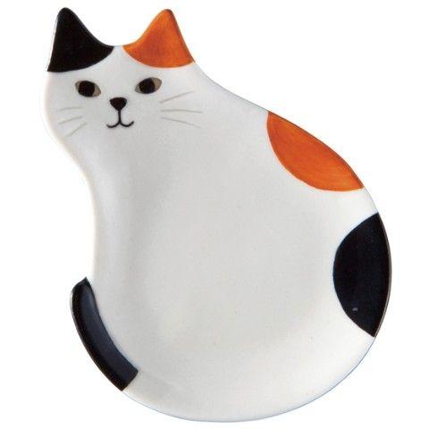 【HAPPY Cat day】豆皿箸置き(三毛猫)