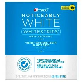 Get visibly whiter teeth in just days. Crest Noticeably White Whitestrips makes it easy to whiten teeth and reveal a brighter smile. Using the same enamel-safe whitening agent as dentists use, your smile will be visibly whiter in just days.