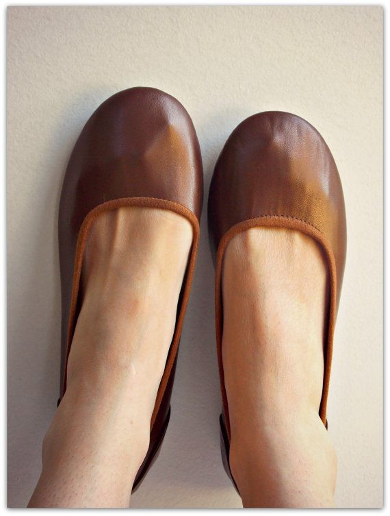 38 Sale size EMMA - Ballet Flats - Chocolate Leather- 38,41  Sale size 38, 41 ONLY