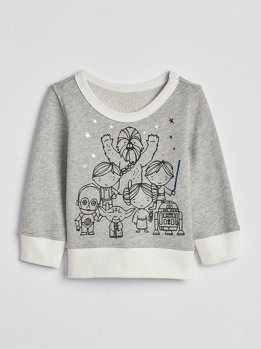 99cc36295 Gap Baby Babygap | Star Wars™ Crewneck Sweater Light Heather Gray ...
