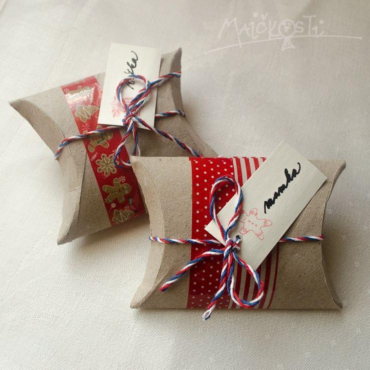 recy pouzdro na dárky z ruličky od toaletního papíru / toilet paper roll turned…