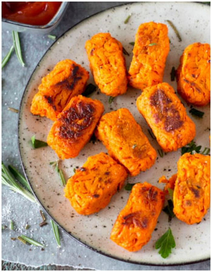 sweet potato tots with rosemary and sea salt