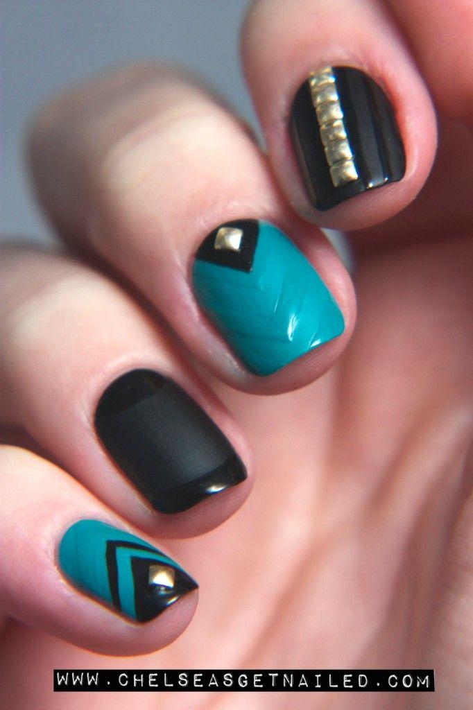 Nail Colour + Matte Top Coat + Designs in Regular Top Coat!