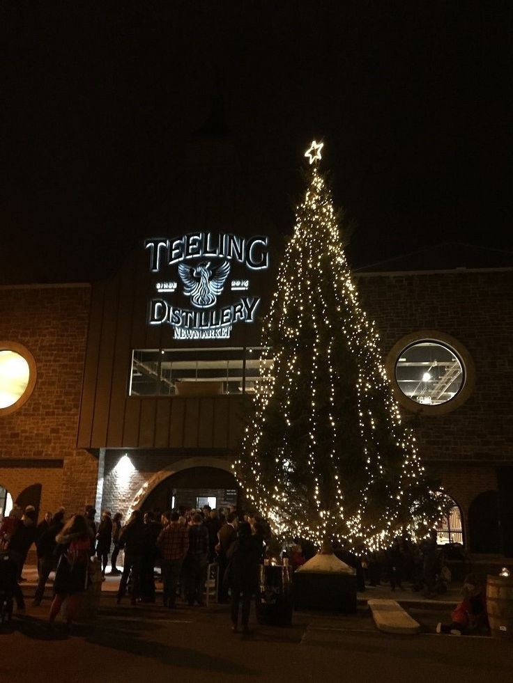 Christmas Tree at Teeling distillery supplied and decorated By RKD Floral Displays