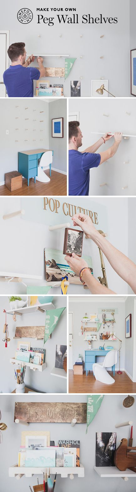 Transcend traditional shelving and transform your space with a DIY Peg Wall Shelf!