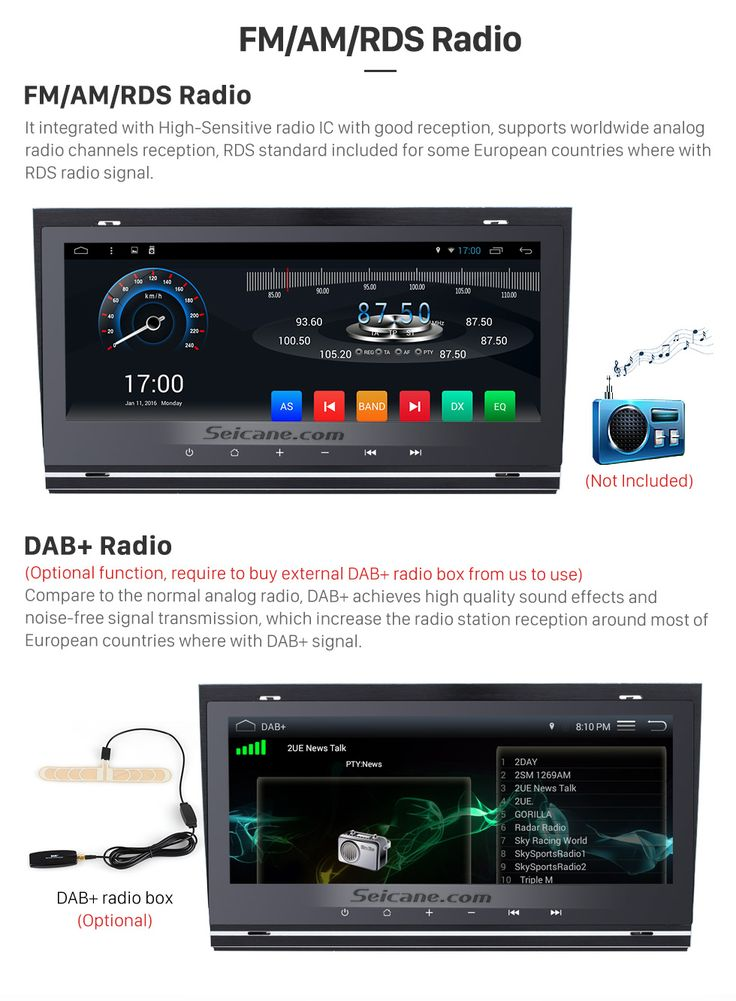 FM/AM/RDS Radio Pressing-keys 8.8 Inch 1280*480 Android 6.0 TouchScreen Radio for 2002-2008 Audi Allroad A4 S4 RS4 with bluetooth GPS Navigation system Bluetooth TPMS DVR OBDII WiFi Steering Wheel Control