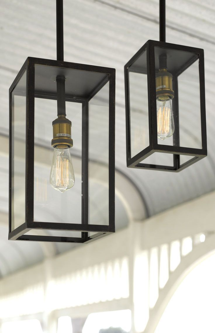 The Beacon Lighting Southampton 1 light traditional small alfresco exterior pendant in antique black with clear glass.