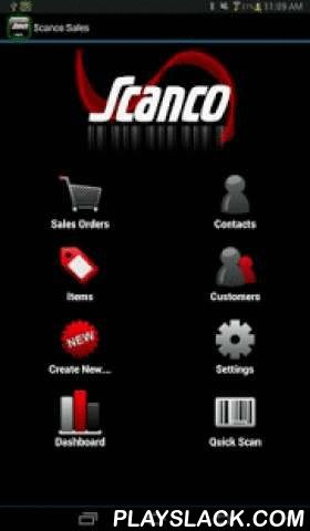 Scanco Sales  Android App - playslack.com ,  If you own the sales order module within Sage 100 ERP, Scanco Sales 100 is a must have application for your operation. Scanco Sales will automate your sales order processing and increase your bottom line by letting your sales force take orders with their most used asset; their android device. The application is not only designed to input sales orders from anywhere in the country, Scanco Sales also has an integrated CRM tool for your sales force…