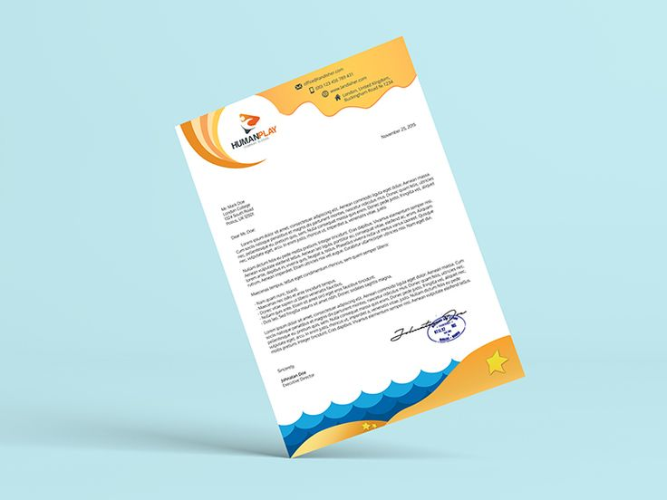 The  Best Company Letterhead Ideas On   Creative