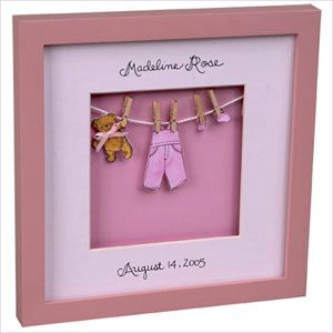 Baby Keepsake | Baby Shadowbox | Little Baby Clothes