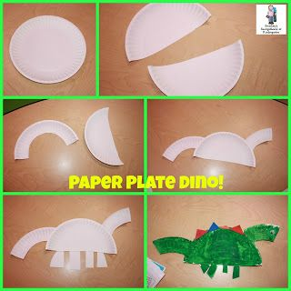 Paper plate dinosaurs!