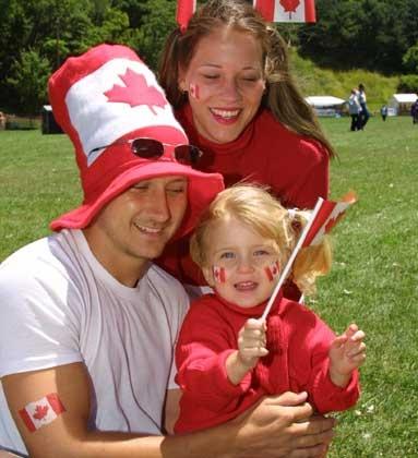 Family fun on Canada Day