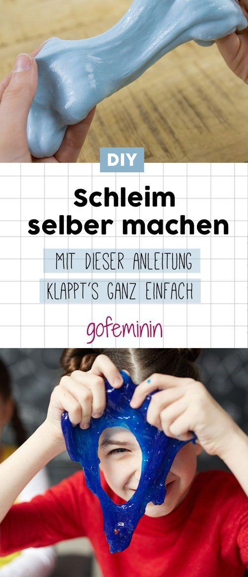 DIY: Mit dieser einfachen Anleitung kannst du Schleim ganz einfach selber machen #diyschleim #schleimselbermachen #kindheitsmomente